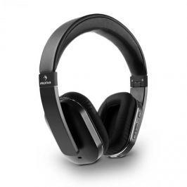 Auna Elegance Bluetooth-NFC sluchátka, aptX, nabíjecí baterie, handsfree, syntetická kůže, černá barva