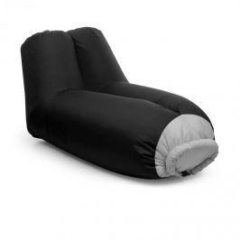 Blumfeldt Airlounge, nafukovací sedačka, 90x80x150cm, batoh, pratelná, polyester, černá