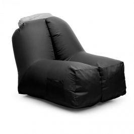 Blumfeldt Airchair, nafukovací křeslo, 80x80x100cm, batoh, pratelné, polyester, černé