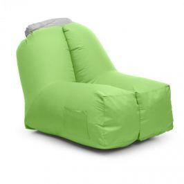 Blumfeldt Airchair, nafukovací křeslo, 80x80x100cm, batoh, pratelné, polyester, zelené