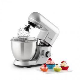 Klarstein Bella Pico Argentea, mini kuchyňský robot, 550 W, 6 stupňů, 4 litry, stříbrný