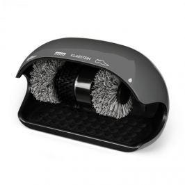 Klarstein ShoeButler čistič obuvi, 120W, 3 kartáče, šedá barva