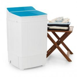 Oneconcept Ecowash Deluxe pračka, 290W, 4kg, časovač, funkce ždímání, modrá barva