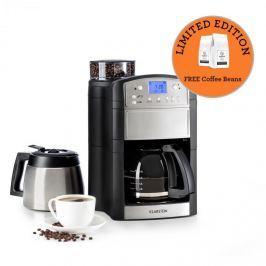 Klarstein Aromatica Set kávovar, mlýnek, skleněná konvice / termoska, ušlechtilá ocel