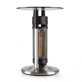 Blumfeldt Primal Heat 65, bistro stůl, uhlíkové IR topné těleso, 1200 W LED, 65 cm, sklo