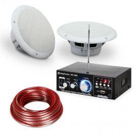 """Electronic-Star 4dílná sada terasového a koupelnového zesilovače s reproduktory, 6,5 """", Speaker Sound Set 6,5"""" voděodoln"""