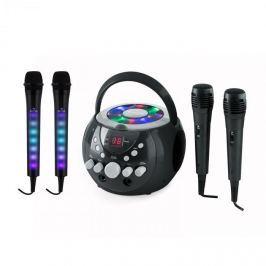 Auna SingSing černá + Dazzle Mic Set karaoke zařízení, mikrofon, LED osvětlení