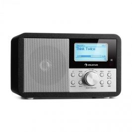 Auna Worldwide Mini, internetové rádio, WLAN, síťový přehrávač, USB, MP3, AUX, FM tuner, černá barva