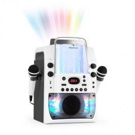 Auna Kara Liquida BT karaoke zařízení, světelná show, vodní fontána, bluetooth, bílá/šedá barva