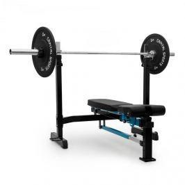CAPITAL SPORTS Benchex posilovací lavička, šikmá a plochá lavička, zatížitelnost do 250 kg, modrá barva