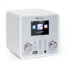 Auna IR-120 internetové rádio, wi-fi DNLA UPNP APP-control, bílá barva