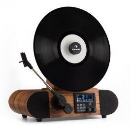 Auna Verticale DAB retro gramofon, DAB +, FM tuner, USB, BT, AUX, budík
