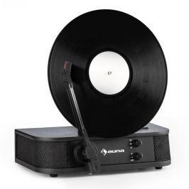 Auna Verticale S, retro gramofon, vertikální deskový talíř, USB, černý