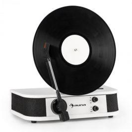 Auna Verticale S, retro gramofon, vertikální deskový talíř, USB, bílý
