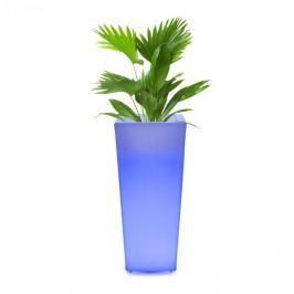 Blumfeldt Starflower LED květináč, UV stabilní, polyetylén, dálkové ovládání, hranatý