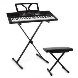 SCHUBERT Etude 300, set keyboard + stojan na klávesy + stolička, černá