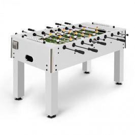 Klarfit Maracanã, stolní fotbal, turnajové rozměry, míčky z přírodního korku, držák na nápoje, bílá barva