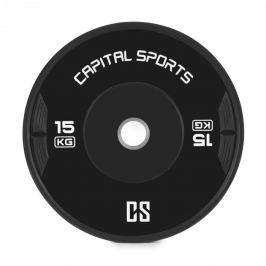 CAPITAL SPORTS Elongata, bumper kotouč, závaží, guma, 15 kg