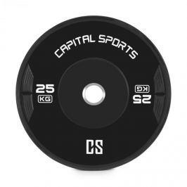 CAPITAL SPORTS Elongata, bumper kotouč, závaží, guma, 25 kg