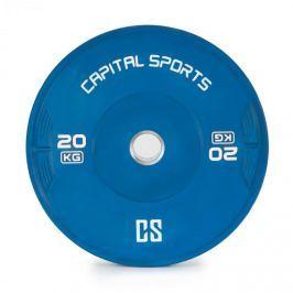 CAPITAL SPORTS Nipton, bumper kotouč, závaží, 1x 20kg, tvrzená pryž, modrá barva