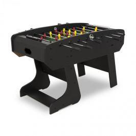Klarfit San Siro, stolní fotbal, turnajové rozměry, sklápěcí, duté tyče, kluzné ložisko, černý