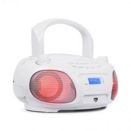 Auna Roadie DAB, CD přehrávač, DAB / DAB +, FM, LED disko světelný efekt, bluetooth, bílá barva