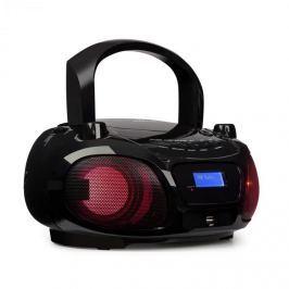 Auna Roadie DAB, CD přehrávač, DAB / DAB +, FM, LED disko světelný efekt, bluetooth, černá barva