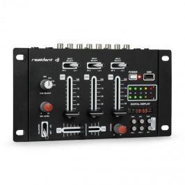 Resident DJ DJ-21 DJ-mixér mixážní pult, USB, černá barva