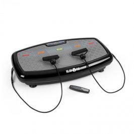 Klarfit Vib 1000 vibrační plošina, 5 režimů, nastavitelná délka trvání a intenzita, černá barva