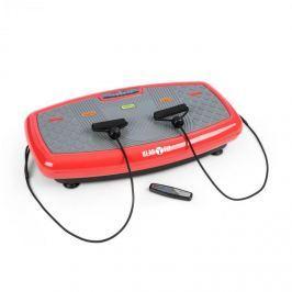 Klarfit Vib 1000 vibrační plošina, 5 režimů, nastavitelná délka trvání a intenzita, červená barva