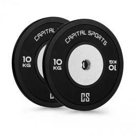 CAPITAL SPORTS Inval Hi-Grade Competition Plates, činkové kotouče, 50mm hliníkové jádro, guma, 2x10kg