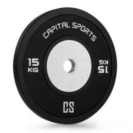CAPITAL SPORTS Inval Hi-Grade Competition, kotoučové závaží, 50mm hliníkové jádro, guma, 15 kg