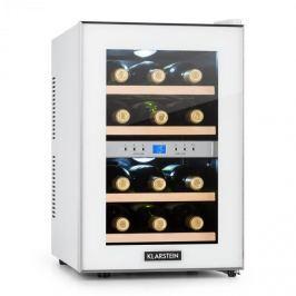 Klarstein Reserva, chladící vinotéka, 34 l, 12 lahví, 2 chladicí zóny, 11-18 ° C, bílá