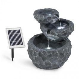 Blumfeldt Murach kaskádová fontána, akumulátorový provoz, 2 kW, solární panel, 3 LEDky