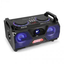 """Fenton MDJ115, mediální přehrávač, USB, SD, bluetooth, AUX-In, 120W zesilovač, 5,5"""" woofer, RGB LED"""