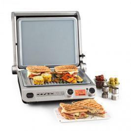 Klarstein Grand Gourmet 3-V-1 kontaktní gril, 2000W, 160-230 ° C, sklokeramika