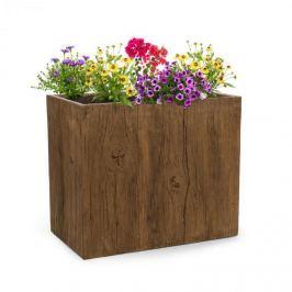 Blumfeldt Timberflor, květináč, 70 x 60 x 40 cm, sklolaminát, do interiéru i exteriéru, hnědá barva