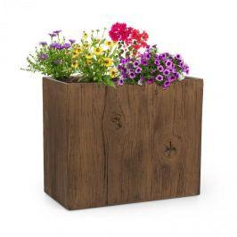 Blumfeldt Timberflor, květináč, 60 x 50 x 30 cm, sklolaminát, do interiéru i exteriéru, hnědá barva