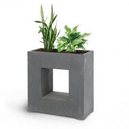 Blumfeldt Blumfeld Airflor, květináč, 70 x 70 x 27 cm, outdoor/indoor, tmavě šedý