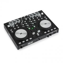 Power Dynamics PDC09, MIDI kontrolér, 2kanálový mixážní pult, 2 jogwheely, 3pásmový ekvalizér