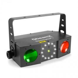 Beamz TERMINATOR IV 3V1efekt, Moonflower, laser a strobe, dálkové ovládání