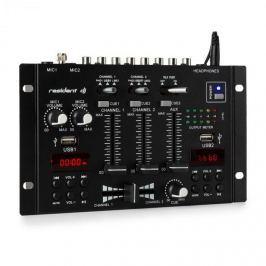 Resident DJ 22BT 2CH, 3-/2kanálový mixážní pult, 2x USB, 3x 6,3mm jack, černý