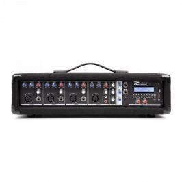 Power Dynamics PDM-C405, 4-kanálový mixér s integrovaným zesilovačem, 800 W max., USB a SD slot