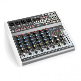 Vonyx VMM-K802, 8-kanálový mixér, USB port, BT přijímač, 16 DSP, +48 V phantom napájení