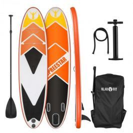 Klarfit Spreestar 325, nafukovací paddleboard, SUP set, 325 x 15 x 86 cm, oranžový