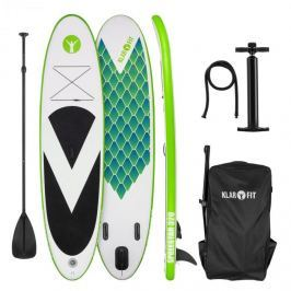 Klarfit Spreestar 320, nafukovací paddleboard, SUP-board-set, 320 x 12 x 81 cm, zelená barva