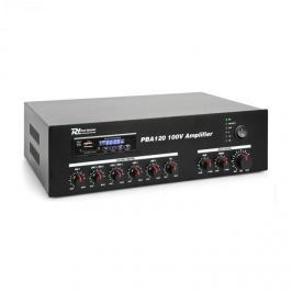 Power Dynamics PBA120, 100 V zesilovač, 120 W, USB/SD, MP3, bluetooth