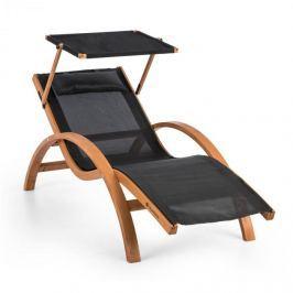 Blumfeldt Acapulco, zahradní lehátko se stříškou, ComfortMmesh, max. nosnost 150 kg max., černé