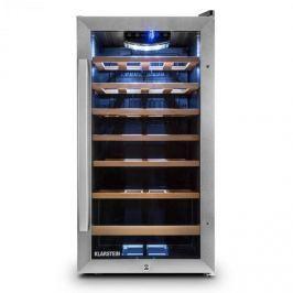 Klarstein Vivo Vino 26, 88 litrů, chladicí vinotéka, 26 lahví, nerezová ocel, LED
