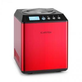 Klarstein Vanilla Sky, 180W, červený, zmrzlinovač s kompresorem, nerezová ocel, 2 l